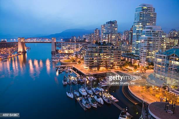 Vancouver, British Columbia Canada. Burrard Bridge