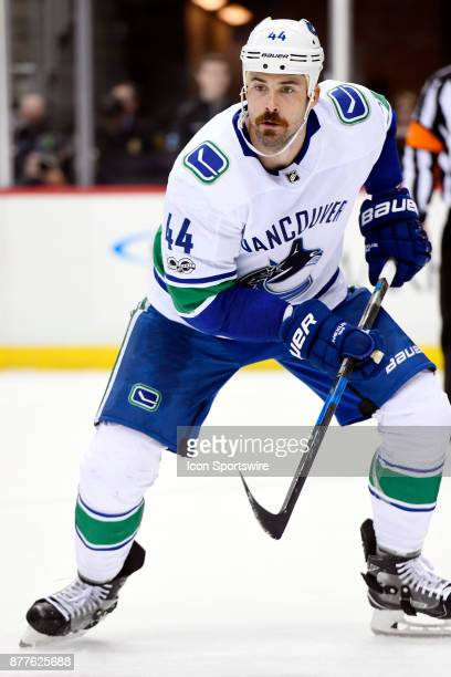 Vancouver Canucks Defenseman Erik Gudbranson skate during the second period in the NHL game between the Pittsburgh Penguins and the Vancouver Canucks...