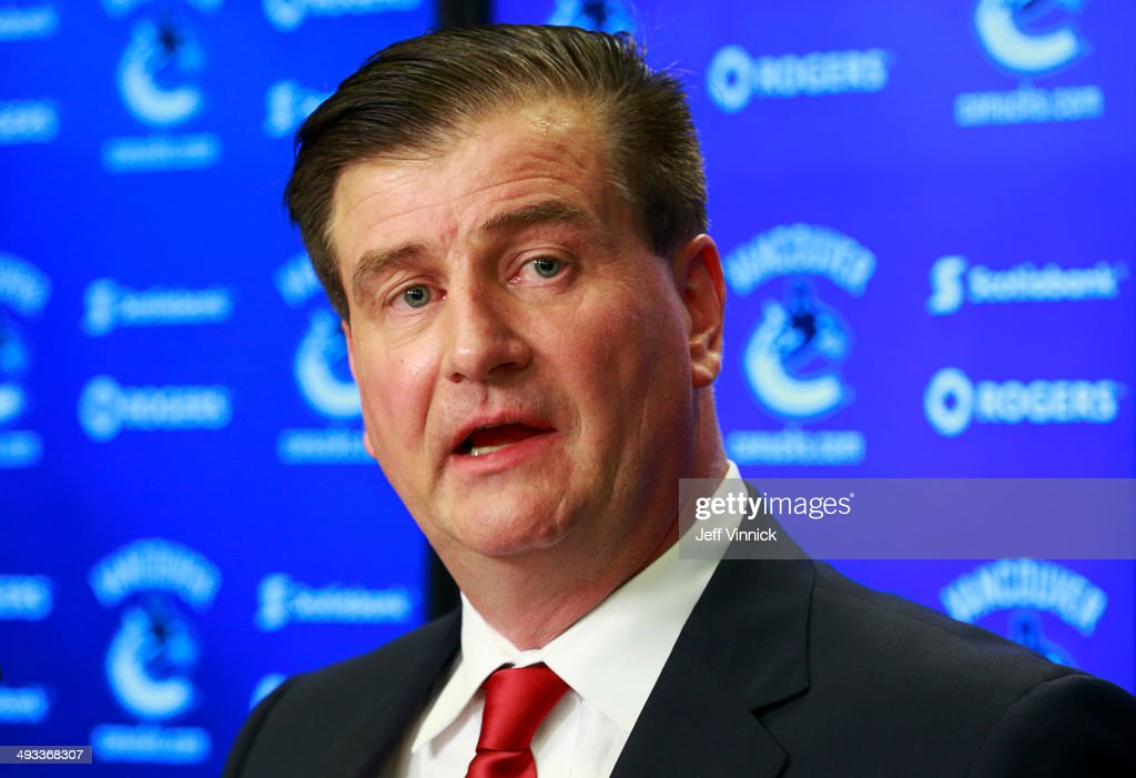 Vancouver-canucks-new-general-manager-talks-during-a-press-conference-picture-id493368307