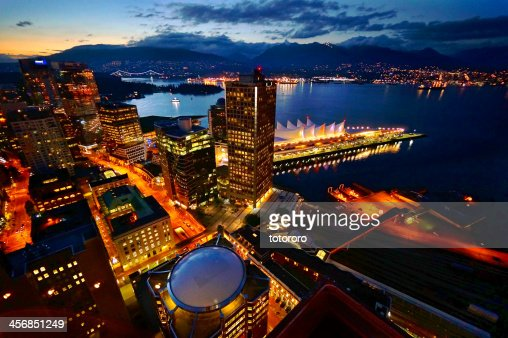 Vancouver City Skyline at Twilight