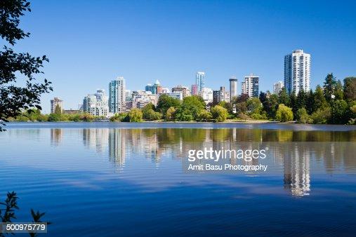 Vancouver downtown across lake