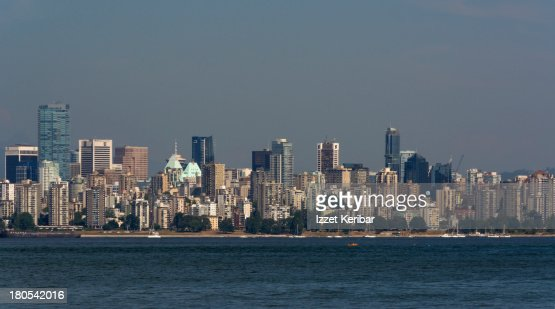 Vancouver Downtown from Spanish Banks Beach Park