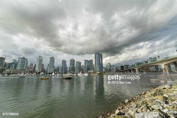 Vancouver downtown seen from False Creek
