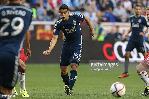 Vancouver FC midfielder Matias Laba during the second half of the game between the New York Red Bulls and the Vancouver FC played at Red Bull Arena...