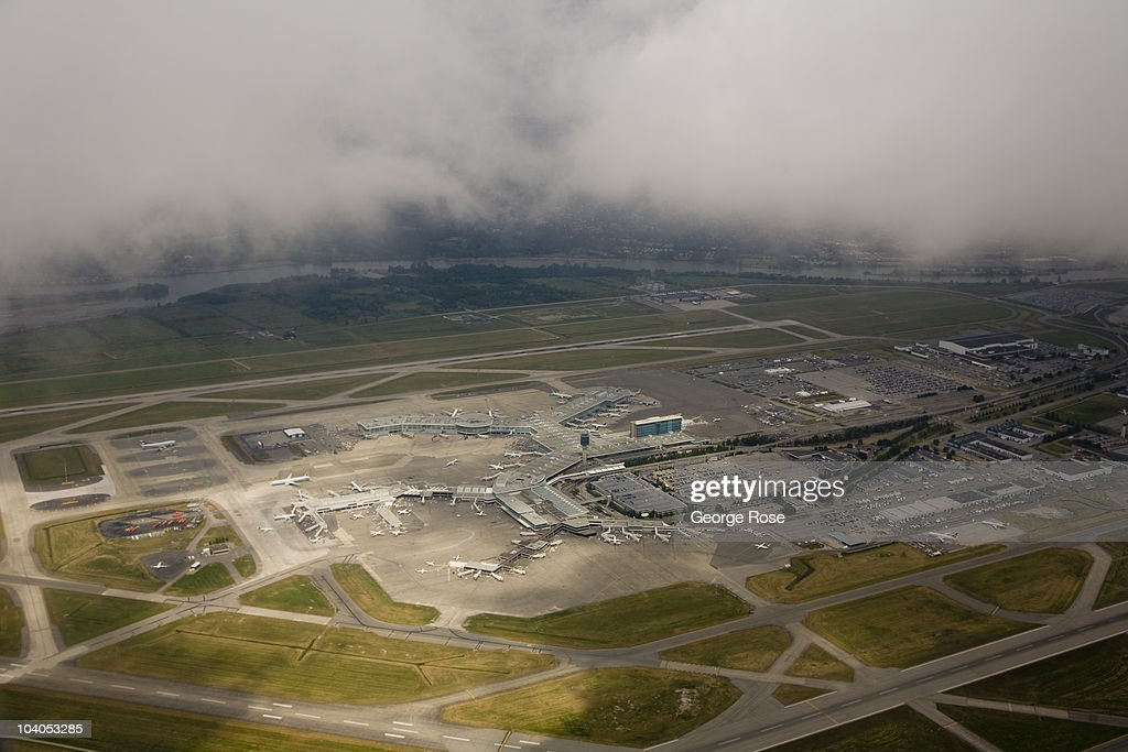 Vancouver International Airport located near downtown viewed from the air on July 6 2010 Vancouver British Columbia Canada Vancouver was the host...