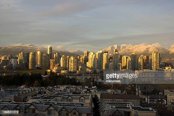 Vancouver on a snowy winter afternoon