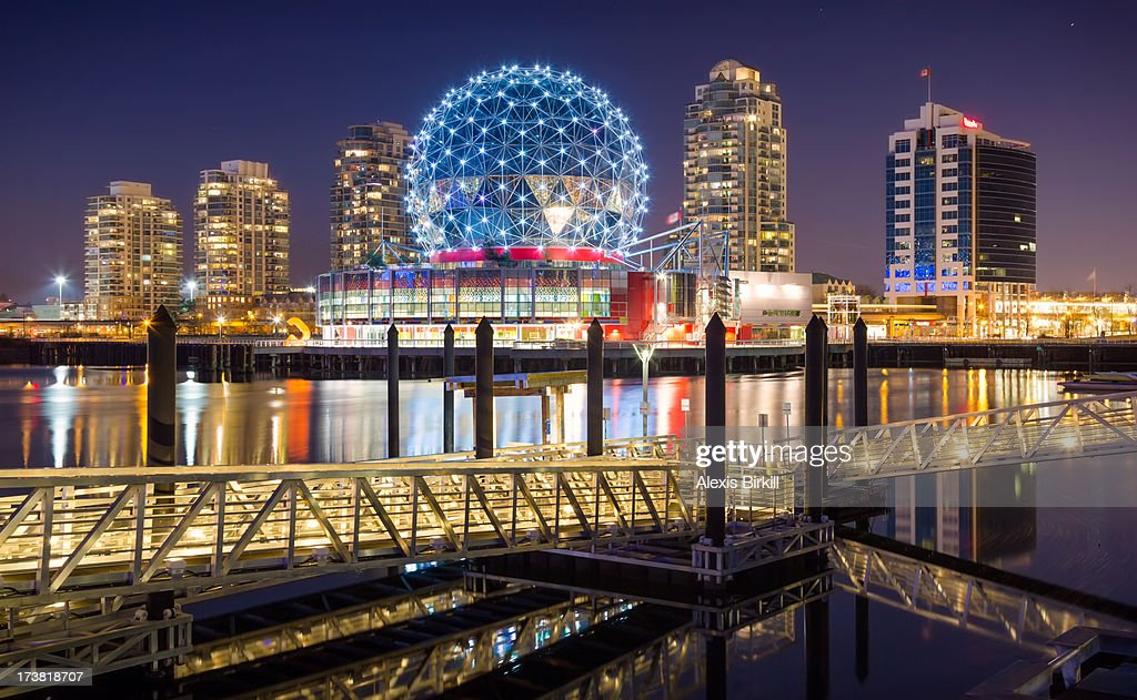 Vancouver Skyline from Olympic Village : Stock Photo