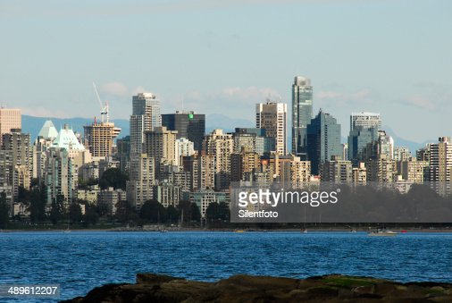 Vancouver skyline on waterfront