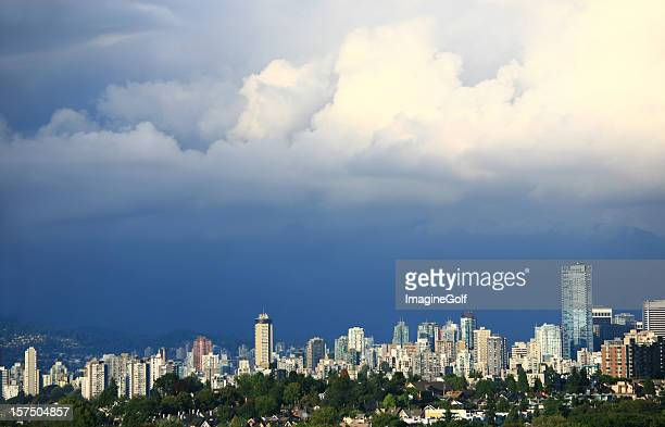 Vancouver Skyline with Storm Clouds