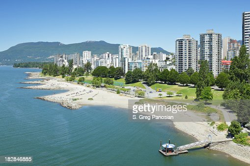 Vancouver waterfront and skyline during the day