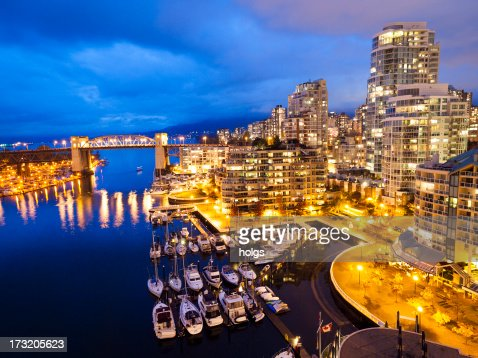 Vancouver Waterfront by Night