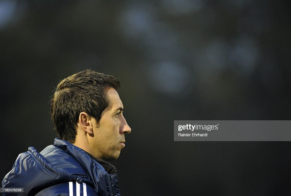 Vancouver Whitecaps FC head coach Martin Rennie looks on during the second half of a game against the Chicago Fire at Blackbaud Stadium on February 23, 2013 in Charleston, South Carolina.