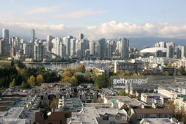 Vancouver Yaletown Skyline With Sea Walk