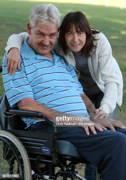 Vanda and Steven Howle from Yaxley Peterborough Steven who has Motor Neurone disease has already planned gifts for his family made with his ashes...