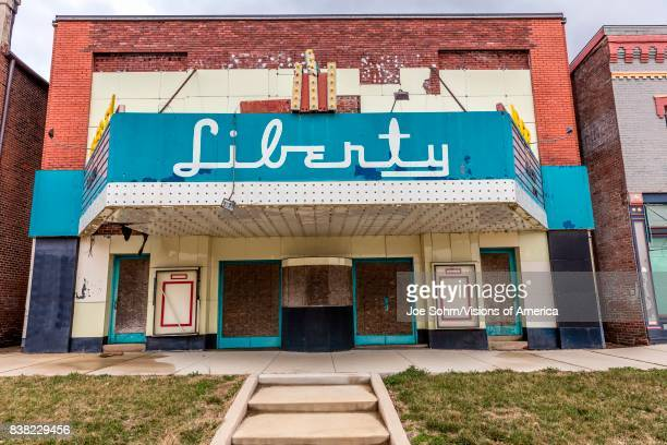 Vandalia Statehouse Illinois first State Capitol deserted Liberty Movie Theater
