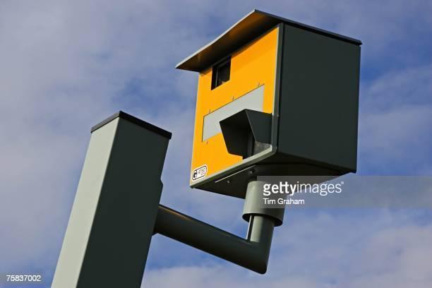 Vandalised Gatso speed camera on A40 Oxfordshire England United Kingdom