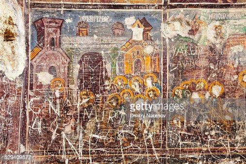 Vandalism on Sumela Monastery frescoes in Turkey