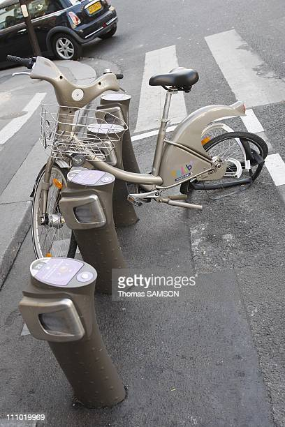 Vandalized Velib in Paris France on September 14th 2007
