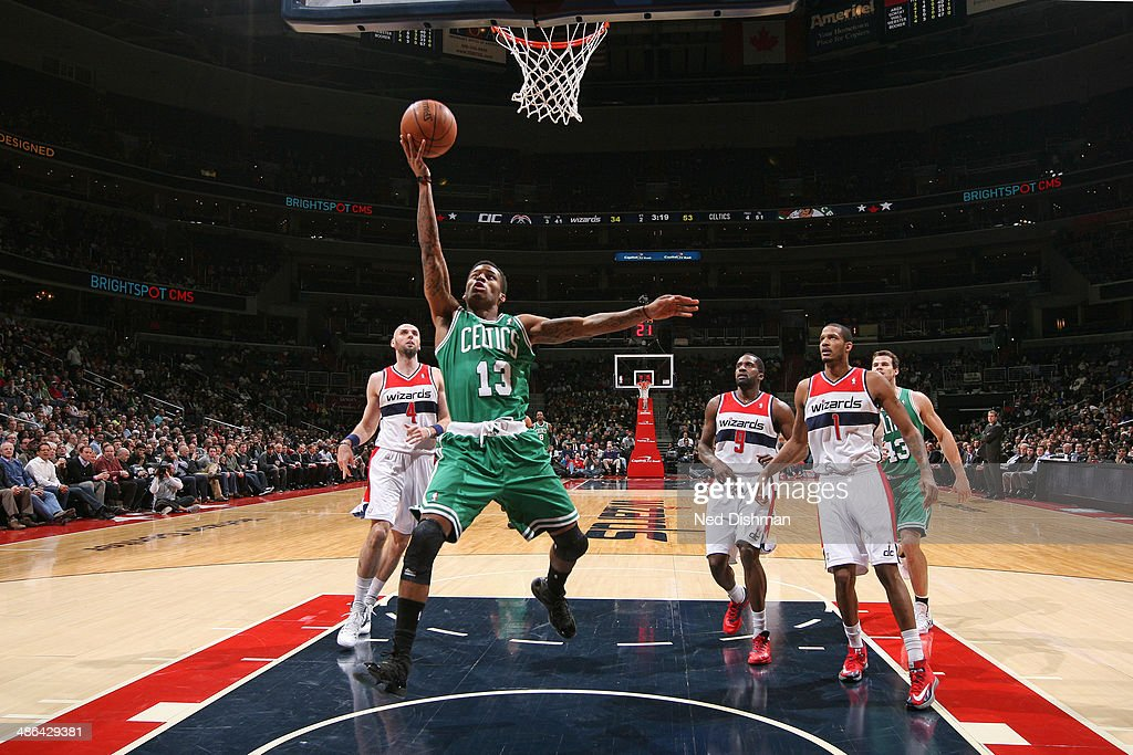 <a gi-track='captionPersonalityLinkClicked' href=/galleries/search?phrase=Vander+Blue&family=editorial&specificpeople=7117581 ng-click='$event.stopPropagation()'>Vander Blue</a> #13 of the Boston Celtics drives to the basket against the Washington Wizards during the game at the Verizon Center on January 22, 2014 in Washington, DC.