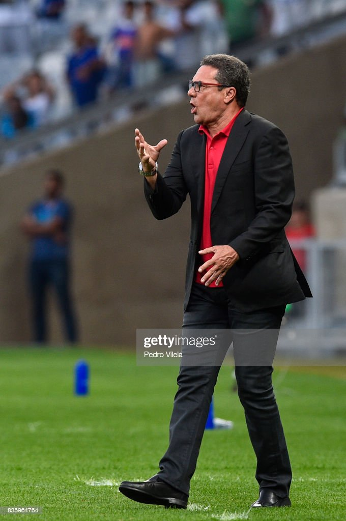 Vanderlei Luxemburgo coach of Sport Recife a match between Cruzeiro and Sport Recife as part of Brasileirao Series A 2017 at Mineirao stadium on August 20, 2017 in Belo Horizonte, Brazil.