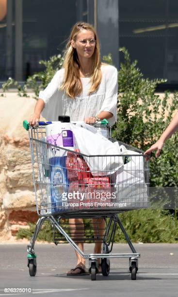 Vanesa Lorenzo is seen go shopping on the island of Ibiza on August 3 2017 in Ibiza Spain