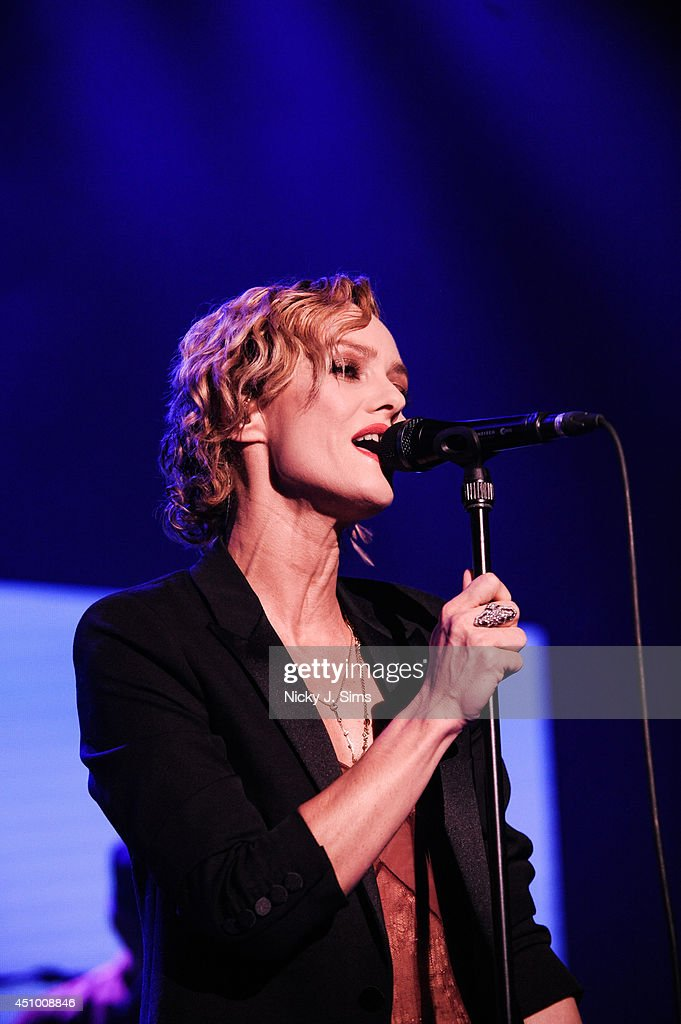 Vanesa Paradis performs at the Forum in London on June 21, 2014 in London, England.