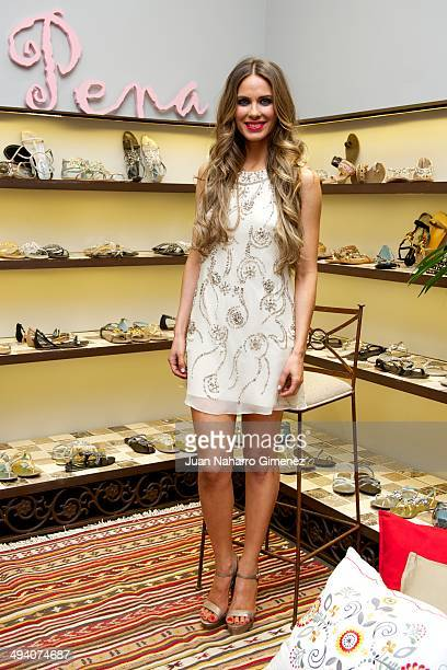 Vanesa Romero attends 'Alma En Pena' presentation at Adela Gil store on May 27 2014 in Madrid Spain