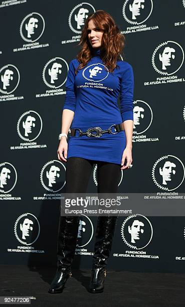 Vanesa Romero attends an event to promote shaving on October 28 2009 in Madrid Spain