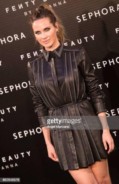 Vanesa Romero attends Rihanna Fenty Beauty Presentation in Madrid on September 23 2017 in Madrid Spain