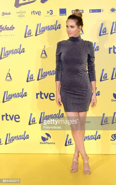 Vanesa Romero attends the 'La Llamada' premiere yellow carpet at the Capitol cinema on September 26 2017 in Madrid Spain