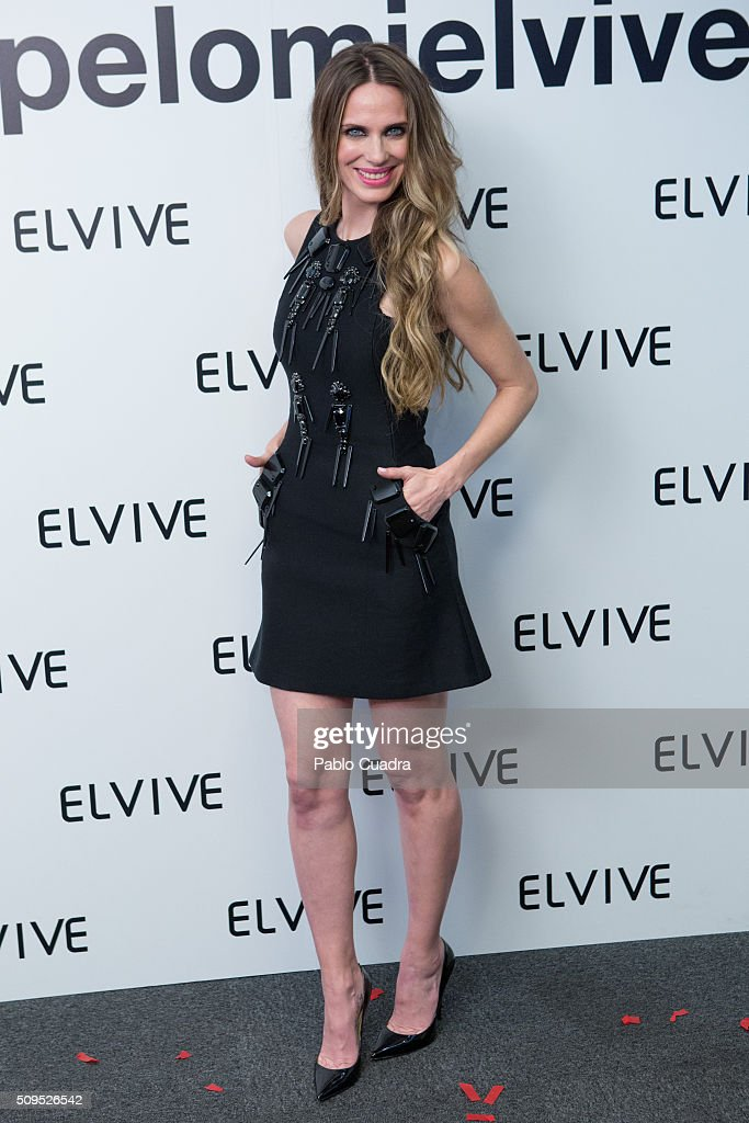 Vanesa Romero is presented as new ambassador of 'Elvive' on February 11, 2016 in Madrid, Spain.