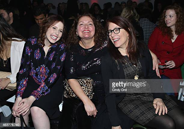 Vanessa Bayer Aida Turturro and Jo Andres attend the Nanette Lepore fashion show at Pop14 during MercedesBenz Fashion Week Fall 2015 on February 18...