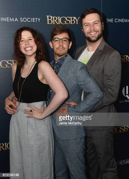 Vanessa Bayer Jorma Taccone and Taran Killam attend the Sony Pictures Classics Screening Of 'Brigsby Bear' at Landmark Sunshine Cinema on July 26...