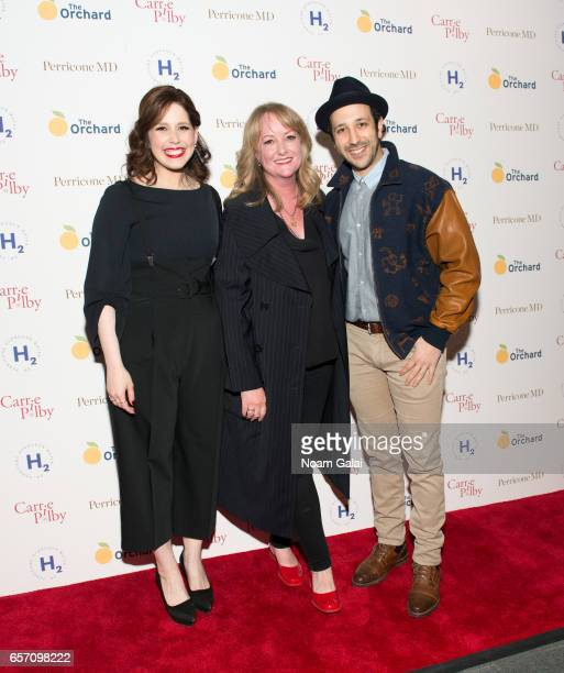 Vanessa Bayer Susan Johnson and Desmin Borges attend the 'Carrie Pilby' New York screening at Landmark Sunshine Cinema on March 23 2017 in New York...