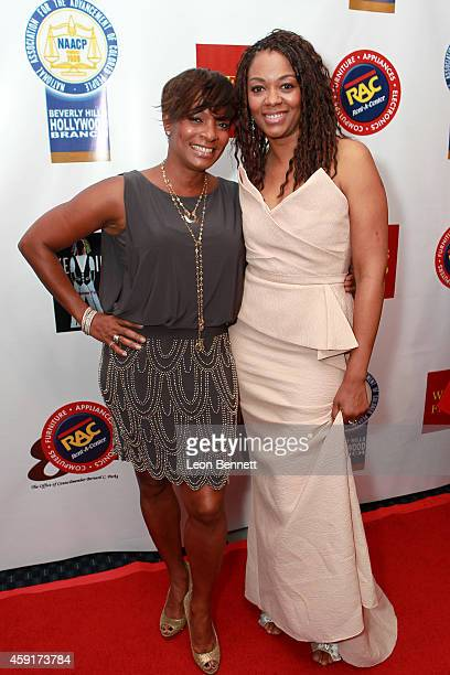 Vanessa Bell Calloway and Gabrielle Pina arrived at the 24th Annual NAACP Theatre Awards at Saban Theatre on November 17 2014 in Beverly Hills...