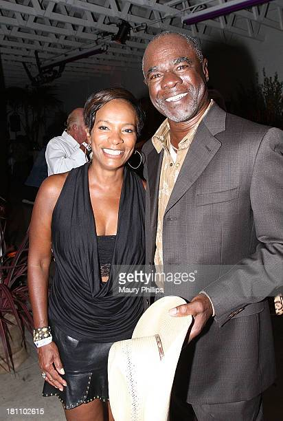 Vanessa Bell Calloway and Glynn Turman attend a PreEmmy Food Tasting Mixer hosted by 'Grey's Anatomy' Star James Pickens Jr and wife Gina with Kim...