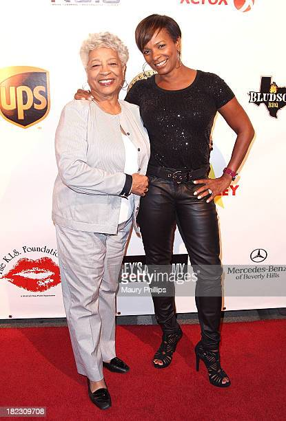 Vanessa Bell Calloway and her mother Beverly Bell arrive at the 10th Annual Celebrity Bowling Challenge hosted by KiKi Shepard at PINZ Entertainment...