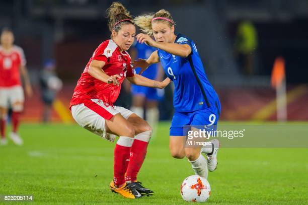 Vanessa Bernauer of Switzerland women Eugenie Le Sommer of France women during the UEFA WEURO 2017 Group C group stage match between Switzerland and...