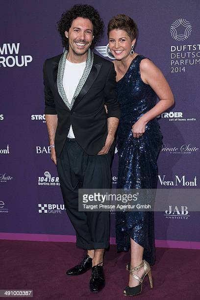 Vanessa Blumhagen and Boris Entrup attend the Duftstars Awards 2014 at arena Berlin on May 15 2014 in Berlin Germany