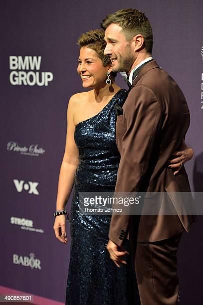 Vanessa Blumhagen and Jochen Schropp attend Babor at the Duftstars Awards 2014 at arena Berlin on May 15 2014 in Berlin Germany
