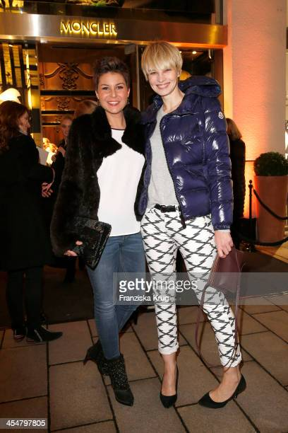 Vanessa Blumhagen and Susan Atwell attend the Moncler Boutique Opening on December 10 2013 in Hamburg Germany