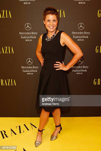 Vanessa Blumhagen arrives for the Opening Night by Grazia fashion show during the MercedesBenz Fashion Week Spring/Summer 2015 at Erika Hess...