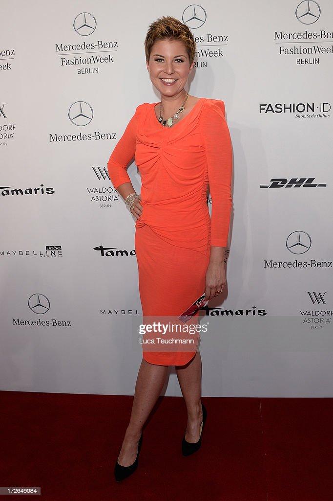 Vanessa Blumhagen attends the Laurel Show during the Mercedes-Benz Fashion Week Spring/Summer 2014 at Brandenburg Gate on July 4, 2013 in Berlin, Germany.
