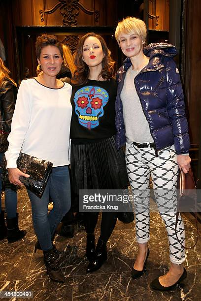 Vanessa Blumhagen Jasmin Wagner and Susan Atwell attend the Moncler Boutique Opening on December 10 2013 in Hamburg Germany