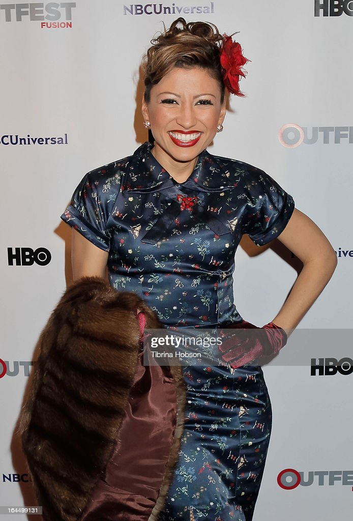 Vanessa Born attends the OutFest Fusion LGBT People of Color Film Festival closing night at the Egyptian Theatre on March 23, 2013 in Hollywood, California.