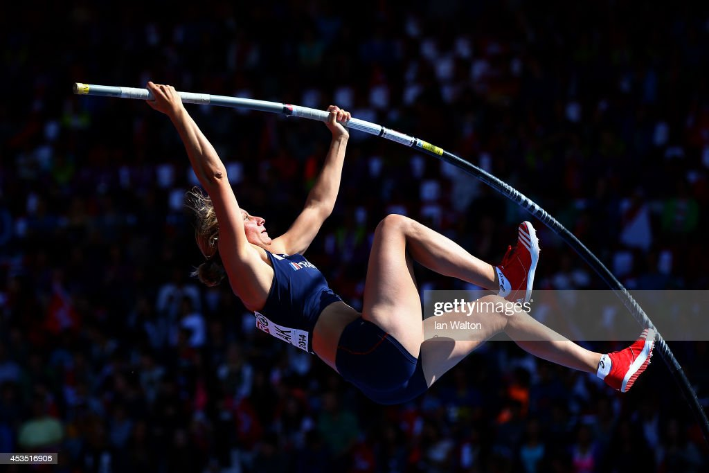 Vanessa Boslak of France competes in the Women's Pole Vault qualification during day one of the 22nd European Athletics Championships at Stadium Letzigrund on August 12, 2014 in Zurich, Switzerland.