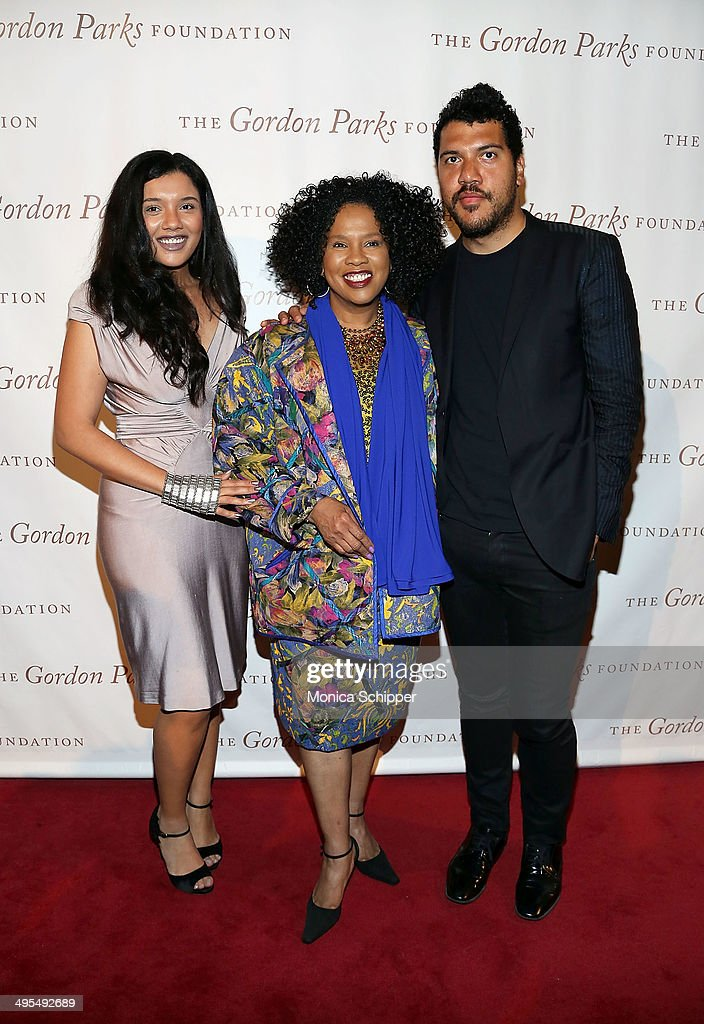 Vanessa Bronfman, Sherry Bronfman and Benjamin Bronfman attend 2014 Gordon Parks Foundation awards dinner at Cipriani Wall Street on June 3, 2014 in New York City.