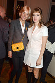 Vanessa Bruno and actress Lubna Playoust attend 'Le Bal Jaune 2015' Dinner Party At Hotel Salomon de Rothschild during FIAC on October 23 2015 in...