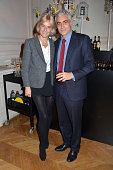 Vanessa Bruno and Frank Elbaz attend 'Le Bal Jaune 2015' Dinner Party At Hotel Salomon de Rothschild during FIAC on October 23 2015 in Paris France
