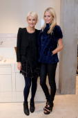 Vanessa Bruno and Poppy Delevingne attend the store launch of Vanessa Bruno at Vanessa Bruno Store on October 14 2010 in London England